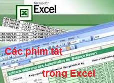 các phím tắt trong excel kế toán