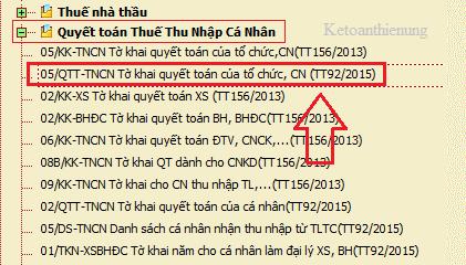 Cách lập tờ khai quyết toán thuế TNCN 05/QTT-TNCN