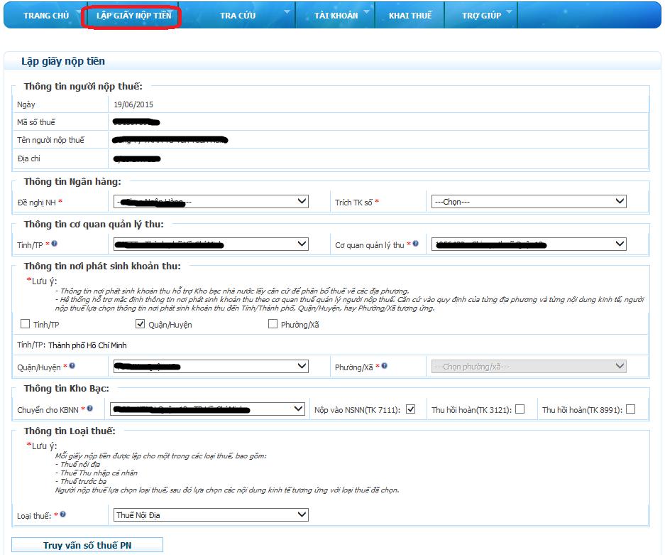 thủ tục đăng ký nộp thuế điện tử