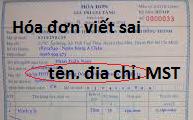 xử lý hóa đơn viết sai tên, địa chỉ, mã số thuế