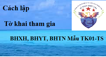Cách lập tờ khai tham gia BHXH, BHYT, BHTN Mẫu TK1-TS