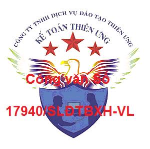 Công văn Số 17940/SLĐTBXH-VL quy định về lao động
