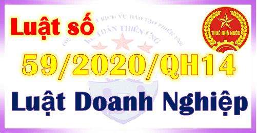 Luật Doanh nghiệp số 59/2020/QH14 ngày 17/06/2020