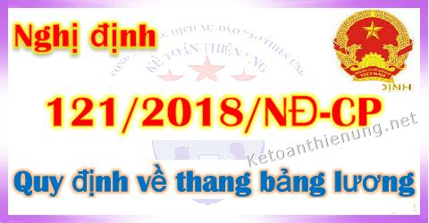 Nghị định 121/2018/NĐ-CP quy định về Thang bảng lương