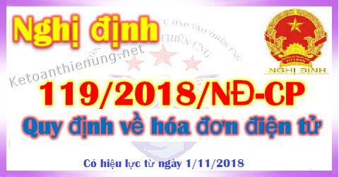 Nghị định 119/2018/NĐ-CP quy định về hóa đơn điện tử
