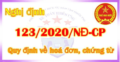 Nghị định 123/2020/NĐ-CP Quy định về hóa đơn điện tử