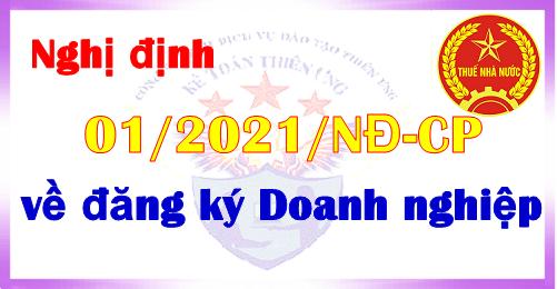 Nghị định 01/2021/NĐ-CP quy định về đăng ký doanh nghiệp