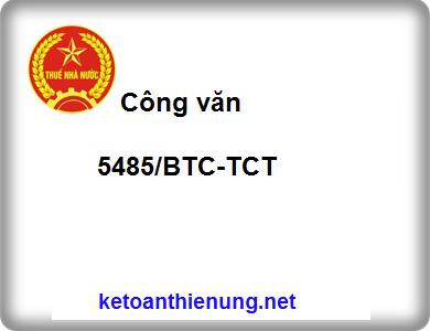 Công văn 5485/BTC-TCT đăng ký kê khai thuế theo pp khấu trừ