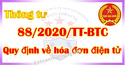 Thông tư 88/2020/TT-BTC hướng dẫn về hóa đơn điện tử