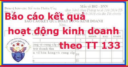 Mẫu Báo cáo kết quả hoạt động kinh doanh theo TT 133 - Cách lập