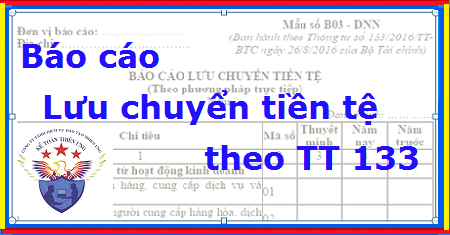 Mẫu Báo cáo lưu chuyển tiền tệ theo Thông tư 133 - Cách lập