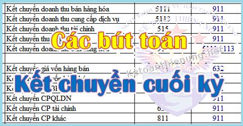 Cách hạch toán kết chuyển cuối kỳ (Lãi lỗ, Thuế)