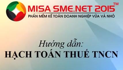 Cách hạch toán thuế TNCN trên Misa 2015