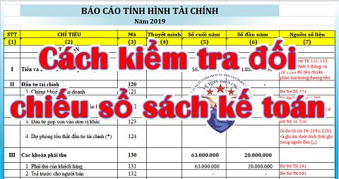 Cách kiểm tra đối chiếu số liệu kế toán cơ bản