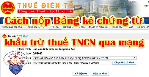 Báo cáo sử dụng Chứng từ khấu trừ thuế TNCN Mẫu CTT25/AC