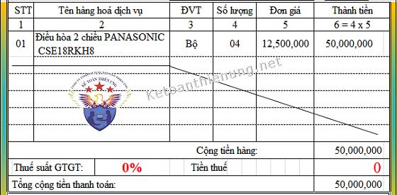 Cách viết hóa đơn hàng Xuất khẩu