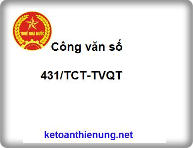 Công văn số 431/TCT-TVQT ngày 14/2/2014 về quản lý và sử dụng hóa đơn (bán hàng)