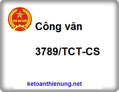 Công văn 3789/TCT-CS Xử phạt làm mất hóa đơn theo hành vi