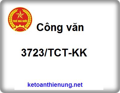 Công văn 3723/TCT-KK Quy định về việc sử dụng hóa đơn GTGT