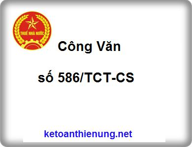 Công văn số 586/TCT-CS tuyên truyền chính sách thuế GTGT