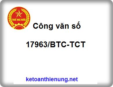 Công văn số 17963/BTC-TCT tính thuế GTGT theo tỷ lệ %