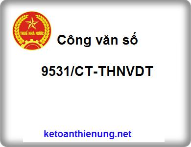 Công văn số 9531/CT-THNVDT tính thuế GTGT theo phương pháp trực tiếp