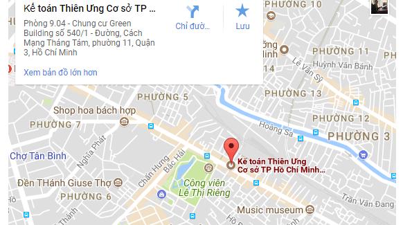 Địa chỉ học Kế toán Thiên Ưng tại Quận 3 - TP HCM (Sài Gòn)