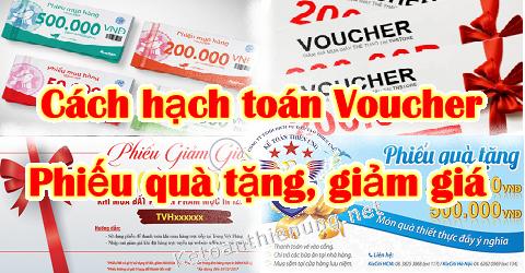 Cách hạch toán Voucher, phiếu quà tặng mua hàng giảm giá