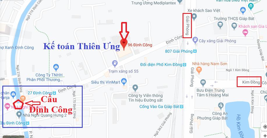 Địa chỉ học kế toán tại Hoàng Mai (Định Công) - Hà Nội
