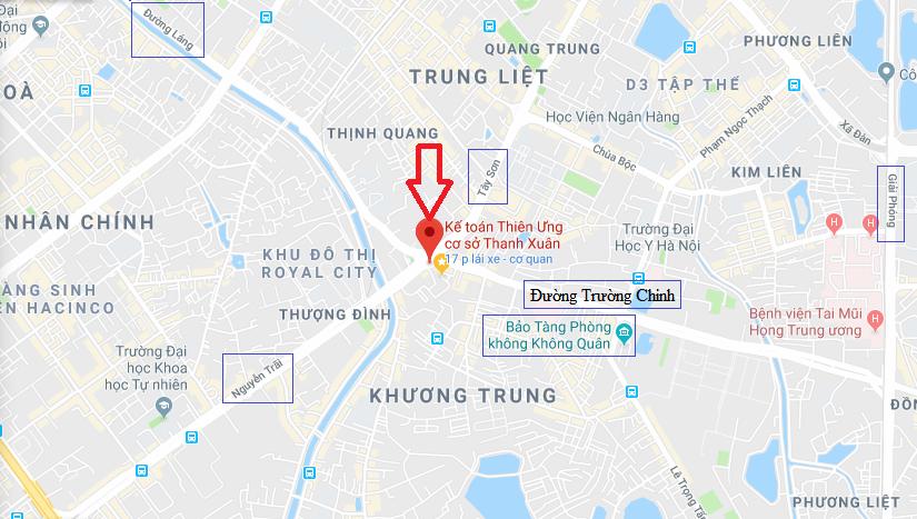Địa chỉ học kế toán ở Thanh Xuân (Nguyễn Trãi) - Hà Nội