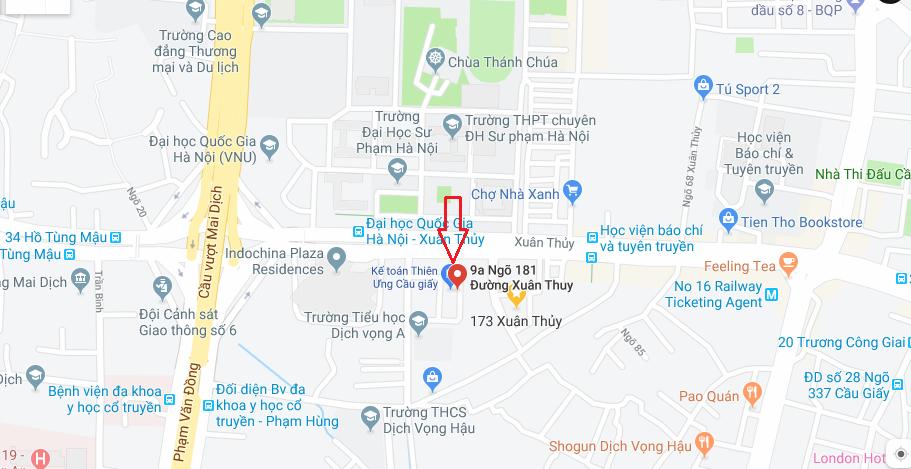 Địa chỉ học kế toán ở Cầu giấy (Xuân Thủy) - Hà Nội
