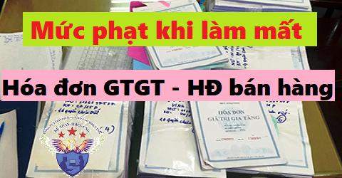 Mức phạt mất hóa đơn GTGT đầu ra - đầu vào