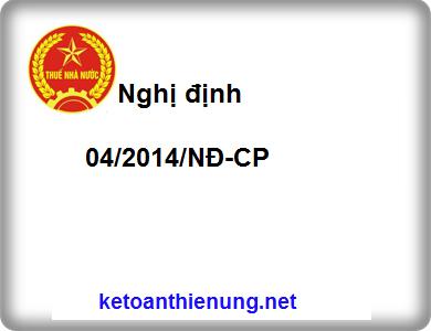 Nghị định 04/2014/NĐ-CP quy định về hóa đơn bán hàng, cung ứng dịch vụ