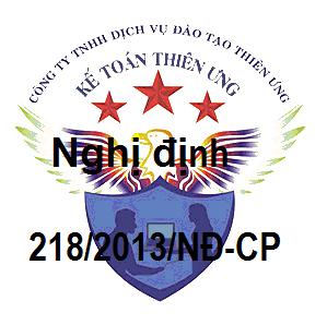 Nghị định 218/2013/NĐ-CP Hướng dẫn thi hành luật thuế TNDN