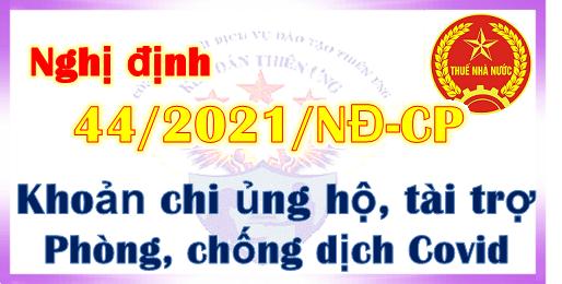Nghị định 44/2021/NĐ-CP Chi hỗ trợ phòng chống dịch Covid 19