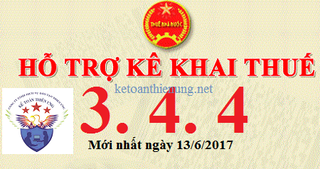 Phần mềm HTKK 3.4.4 mới nhất 13/6/2017