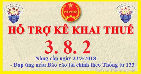 Phần mềm HTKK 3.8.2 mới nhất ngày 23/3/2018