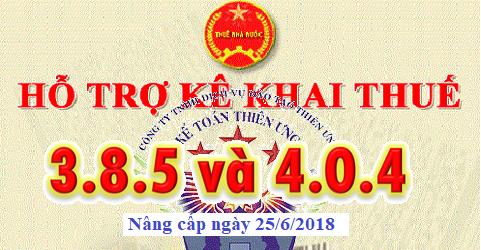 Phần mềm HTKK 3.8.5 và 4.0.4 mới nhất ngày 25/06/2018