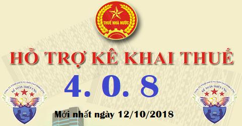 Phần mềm hỗ trợ kê khai HTKK 4.0.8 mới nhất 2018