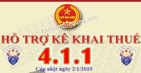 Phần mềm hỗ trợ kê khai thuế HTKK 4.1.1 mới nhất 2019