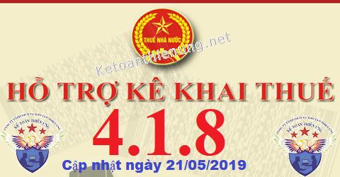 Phần mềm hỗ trợ kê khai thuế HTKK 4.1.8 mới nhất 2019
