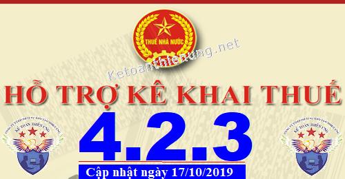 Phần mềm hỗ trợ kê khai thuế HTKK 4.2.3 mới nhất 2019