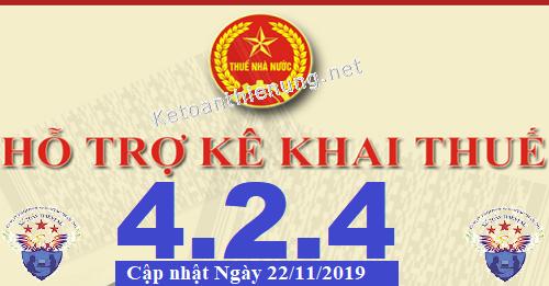Phần mềm hỗ trợ kê khai thuế HTKK 4.2.4 mới nhất 2019