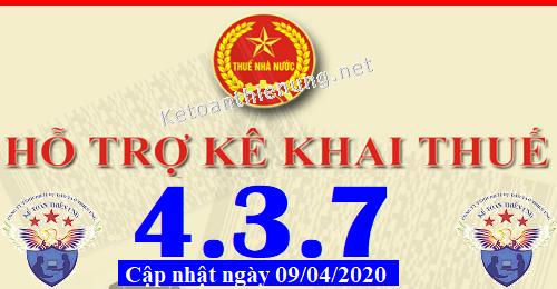 Phần mềm hỗ trợ kê khai thuế HTKK 4.3.7 mới nhất 2020