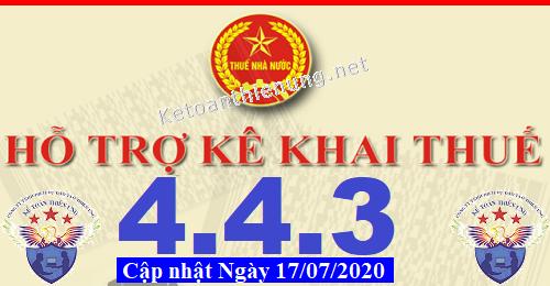 Phần mềm hỗ trợ kê khai thuế HTKK 4.4.3 mới nhất 2020