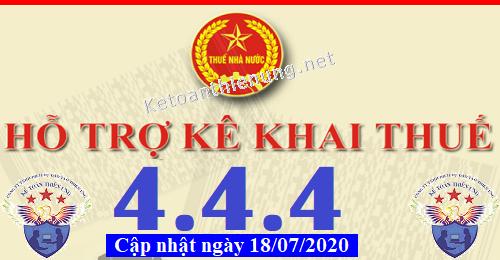 Phần mềm hỗ trợ kê khai thuế HTKK 4.4.4 mới nhất 2020