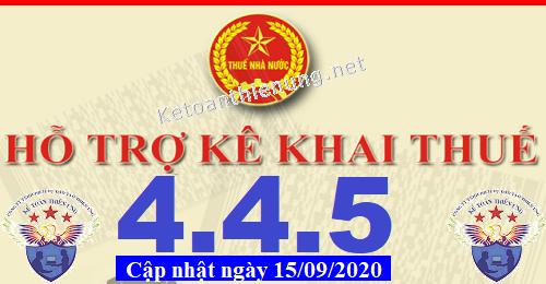 Phần mềm hỗ trợ kê khai thuế HTKK 4.4.5 mới nhất 2020