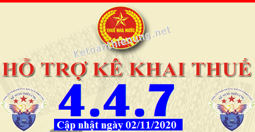 Phần mềm hỗ trợ kê khai thuế HTKK 4.4.7 mới nhất 2020
