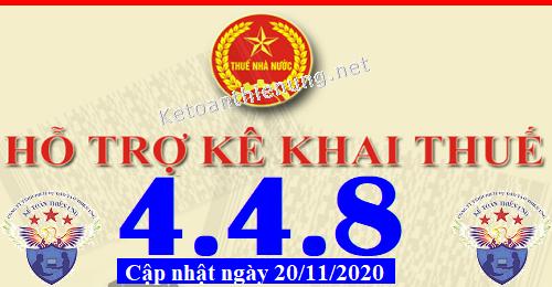 Phần mềm hỗ trợ kê khai thuế HTKK 4.4.8 mới nhất 2020