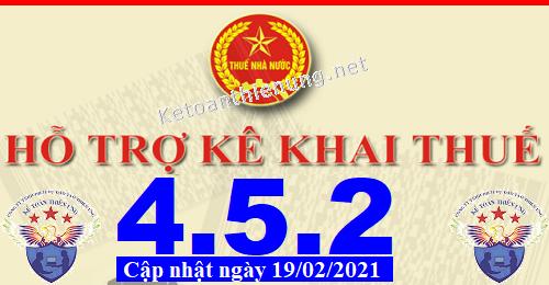 Phần mềm hỗ trợ kê khai thuế HTKK 4.5.2 mới nhất 2021